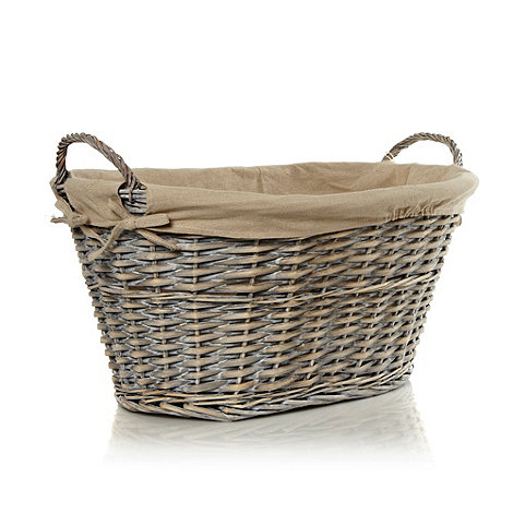 J by Jasper Conran - Designer linen and wicker laundry basket