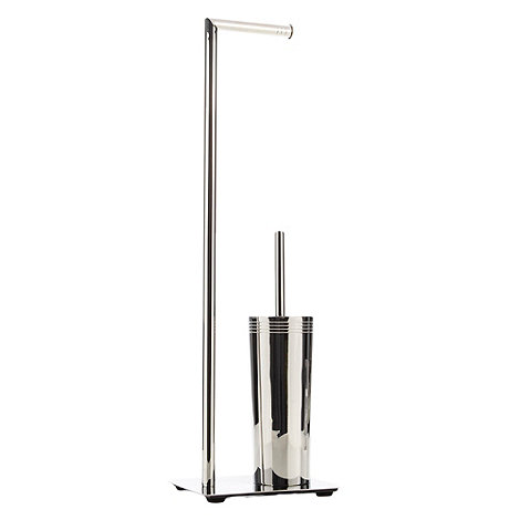 J by Jasper Conran - Designer stainless steel toilet brush and roll holder