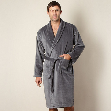 J by Jasper Conran - Designer grey towel lined dressing gown