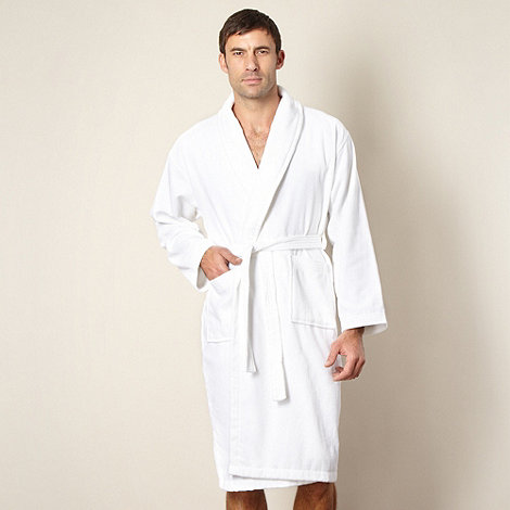 J by Jasper Conran - Designer white towel lined dressing gown