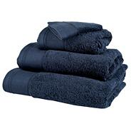 Navy 'Pima' cotton towels