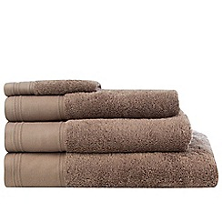 J by Jasper Conran - Taupe 'Pima' cotton towels