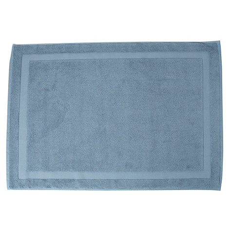 J by Jasper Conran - Blue plain cotton bathmat