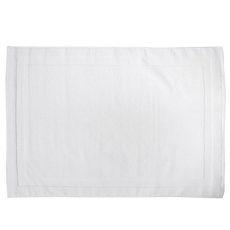 J by Jasper Conran - White plain cotton bathmat