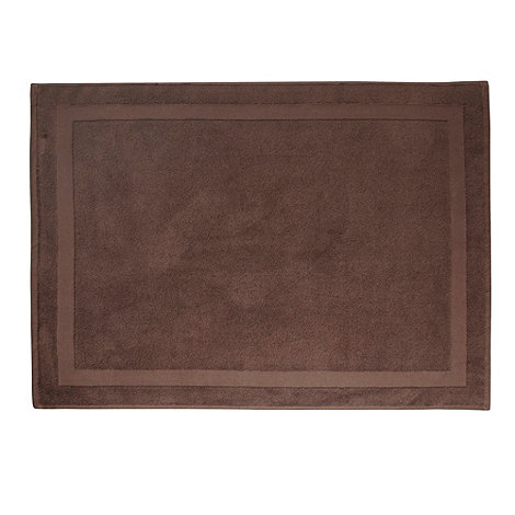J by Jasper Conran - Designer chocolate luxury cotton bath mat