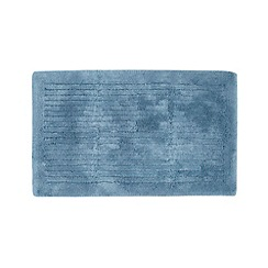 J by Jasper Conran - Designer blue striped cotton bathmat