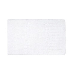 J by Jasper Conran - Designer white striped cotton bathmat