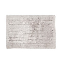 J by Jasper Conran - Designer silver striped cotton bathmat