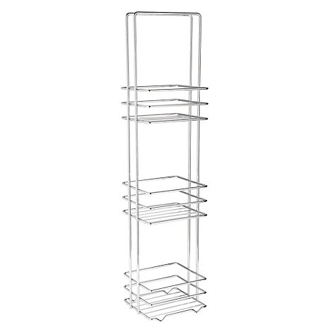 Debenhams - Small stainless steel three tier shelving