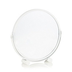 Home Collection Basics - Metal white rotating mirror