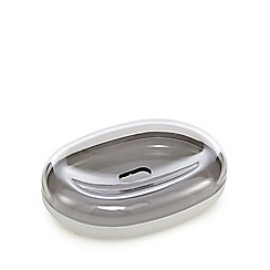 Home Collection Basics - Grey soft touch soap dish