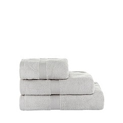 J by Jasper Conran - Silver coloured 'Zero Twist' cotton towels
