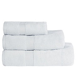 J by Jasper Conran - Light blue 'Zero Twist' cotton towels