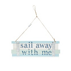 Parlane - Wooden 'Sail away' sign
