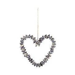 Parlane - Purple cay cay shell hanging heart