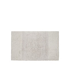 J by Jasper Conran - Designer silver luxury cotton bathmat