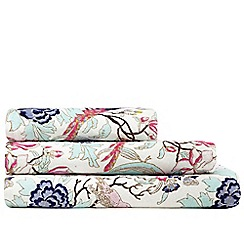 Butterfly Home by Matthew Williamson - Designer pink peacock print towels