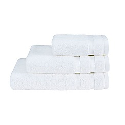 Christy - White 'Hygro' plain dye towels