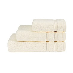 Christy - Cream 'Hygro' plain dye towels