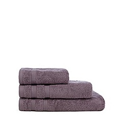 Christy - Mauve 'Hygro' plain dye towels