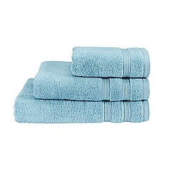 Christy - Blue 'Hygro' plain dye towels