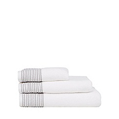 J by Jasper Conran - Designer white pleat border towels