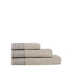 J by Jasper Conran - Designer natural pleat border towels