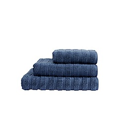 Christy - Dark blue textured towels