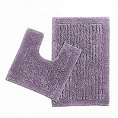Christy - Mauve pedestal and bathmat set