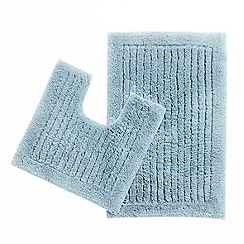 Christy - Blue striped mat and pedestal set