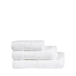 J by Jasper Conran - Designer white cotton towel