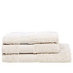 J by Jasper Conran - Designer taupe cotton towel