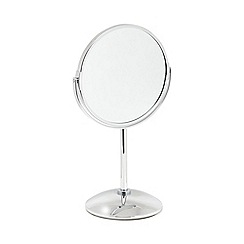 Home Collection - Silver small pedestal mirror