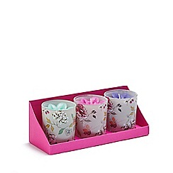 Butterfly Home by Matthew Williamson - Designer set of three pink floral candles
