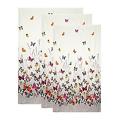 Butterfly Home by Matthew Williamson - Designer grey graduating butterflies towel