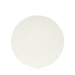 Home Collection - White leaf ceramic soap dish