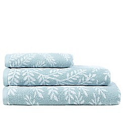 Home Collection - Turquoise fern print towels