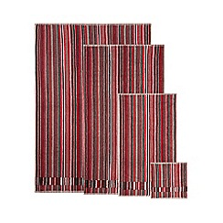 Ben de Lisi Home - Designer red striped velour header towels