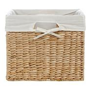 Natural rush shelf basket