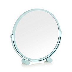 Collection Basics - Metal aqua rotating mirror
