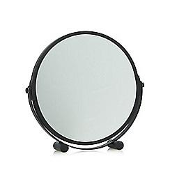 Home Collection Basics - Black round rotating mirror