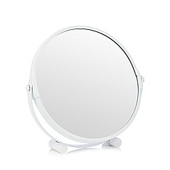Home Collection Basics - White round rotating mirror
