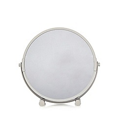 Home Collection Basics - Grey round rotating mirror
