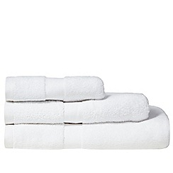 J by Jasper Conran - White lined zero twist cotton towel