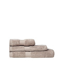 J by Jasper Conran - Natural lined zero twist cotton towel