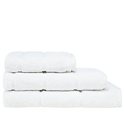 J by Jasper Conran - White 'Greenwich' cotton towels