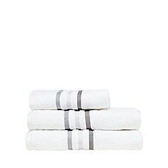 J by Jasper Conran - White tonal striped towel