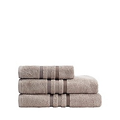 J by Jasper Conran - Beige tonal striped cotton towel