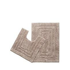 The Fine Linens Company - Natural bathmat and pedestal mat set