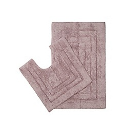 The Fine Linens Company - Purple bathmat and pedestal mat set